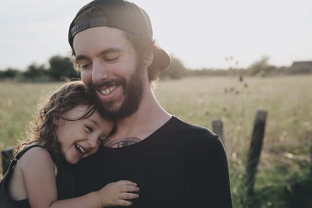 Happy father and daughter